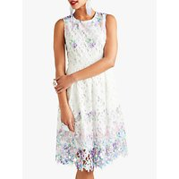 shop for Yumi Flower Lace Dress, White/Multi at Shopo