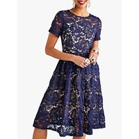 shop for Yumi Lace Overlay Party Dress, Navy at Shopo
