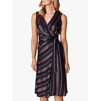 Karen Millen Tie Waist Midi Dress, Multi