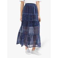 shop for French Connection Anthemis Folk Skirt, Indigo Multi at Shopo