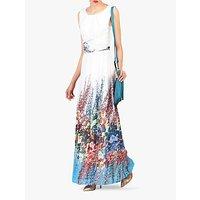 shop for Jolie Moi Printed Chiffon Maxi Dress, White/Multi at Shopo