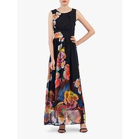 shop for Jolie Moi Floral Chiffon Maxi Dress at Shopo
