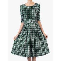 shop for Jolie Moi Flared Puff Sleeve Midi Dress, Green Geo at Shopo