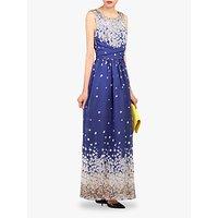 shop for Jolie Moi Floral Belted Maxi Dress, Blue/Multi at Shopo
