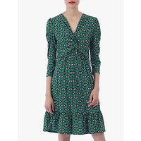 shop for Jolie Moi Geo Print Flare Hem Dress, Green/Multi at Shopo