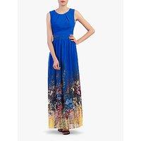 shop for Jolie Moi Floral Chiffon Maxi Dress, Royal Blue/Multi at Shopo