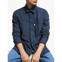 Penfield Blackmer Brushed Cotton Shirt, Navy