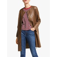 Weekend MaxMara Bobbio Leather Coat, Tobacco