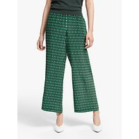 Weekend MaxMara Marruca Silk Print Cropped Trousers, Emerald