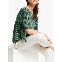 Weekend MaxMara Adone Silk Print Top, Emerald