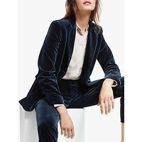Weekend MaxMara Moneta Velvet Blazer, Navy