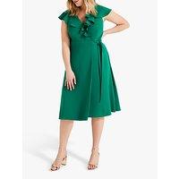shop for Studio 8 Rachel Wrap Dress, Green at Shopo