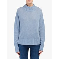 360 Sweater Lyla Polo Neck Cashmere Jumper, Stonewash