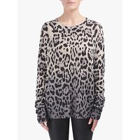 360 Sweater Juliana Leopard Print Cashmere Jumper, Multi