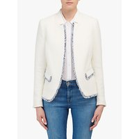 Helene For Denim Wardrobe Notch Collar Jacket, Ivory
