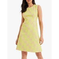 Damsel in a Dress Camilla Printed Dress, Yellow/Blush