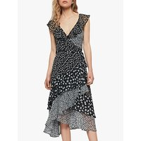 Allsaints Kari Scatter Floral Dress, Black