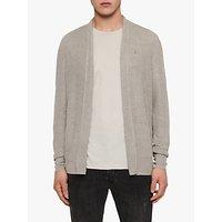 AllSaints Tarn Linen Slim Fit Cardigan, Pewter Grey