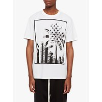 AllSaints Twilight Stars Cotton Short Sleeve T-Shirt, Optic White/Black