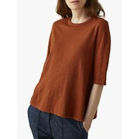 Toast Boxy Easy Cotton T-Shirt, Rust