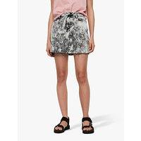 AllSaints Trudy Mini Denim Skirt, Acid Washed Black