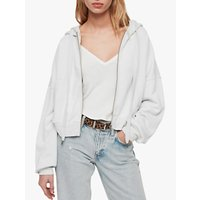 Allsaints Quince Cropped Hoodie, Ivory White