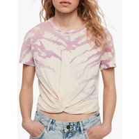 AllSaints Carme Ombre Cotton T-Shirt, Washed Yellow