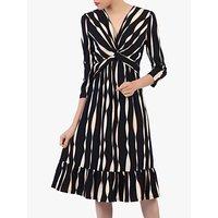 shop for Jolie Moi Flare Hem Midi Dress, Black Wave at Shopo