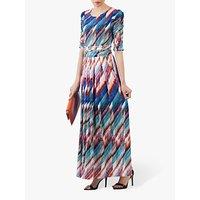 shop for Jolie Moi Half Sleeve Print Maxi Dress, Multi at Shopo