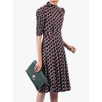 shop for Jolie Moi Turtleneck Half Sleeved Dress, Multi at Shopo