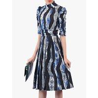 shop for Jolie Moi Turtleneck Half Sleeved Dress, Black/Multi at Shopo