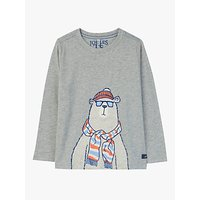 Little Joule Boys Finlay Bear T-Shirt, Grey