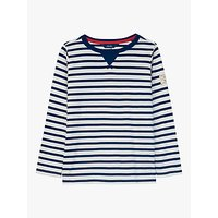 Little Joule Boys Breton Stripe T-Shirt, Navy