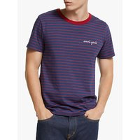 Maison Labiche Avant-Garde Striped T-Shirt, Night/Burgundy
