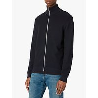 PS Paul Smith Cotton Zip Through Cardigan, Navy