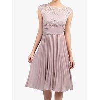 shop for Jolie Moi Lace Bodice Pleated Dress, Mauve at Shopo