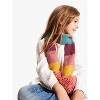 John Lewis & Partners Children's Colour Block Scarf, Pink/Multi