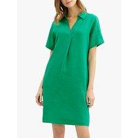 Jaeger Linen Collar Dress, Green