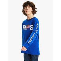 Polo Ralph Lauren Boys Long Sleeve Logo T-Shirt, Blue