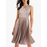 shop for Damsel in a Dress Zoey Pleated Textured Dress, Champagne at Shopo