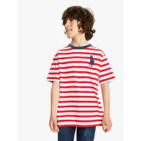 Polo Ralph Lauren Boys Stripe T-Shirt, Red
