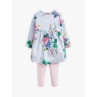 Baby Joule Christina Rabbit Dress And Legging Set, Blue/Pink