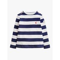 Baby Joule Harbour Stripe Cotton Top, Navy/Cream