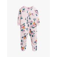 Baby Joule Raza Floral Print Babygrow, Pink