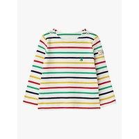 Baby Joule Harbour Bright Stripe Cotton Top, Cream Multi Stripe