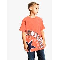 Converse Boys Lockup T-Shirt, Red Marl