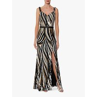 shop for Gina Bacconi Daisha Sequin Maxi Dress, Black/Gold at Shopo