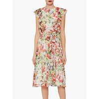 shop for Gina Bacconi Rozella Floral Tie Belt Dress, Multi at Shopo