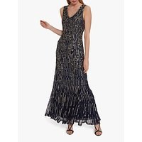 shop for Gina Bacconi Alundra Beaded Maxi Dress at Shopo