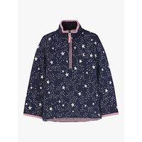 Little Joule Girls' Star Print Fairdale Sweatshirt, Navy